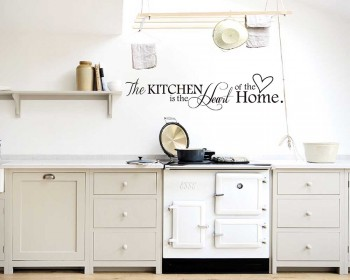 The Kitchen is the Heart of the Home Quote Decal